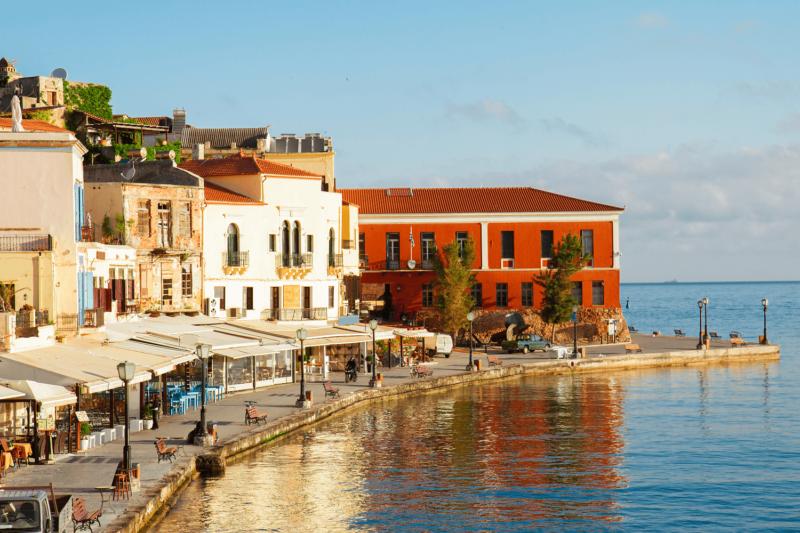 View of a Crete seaside village
