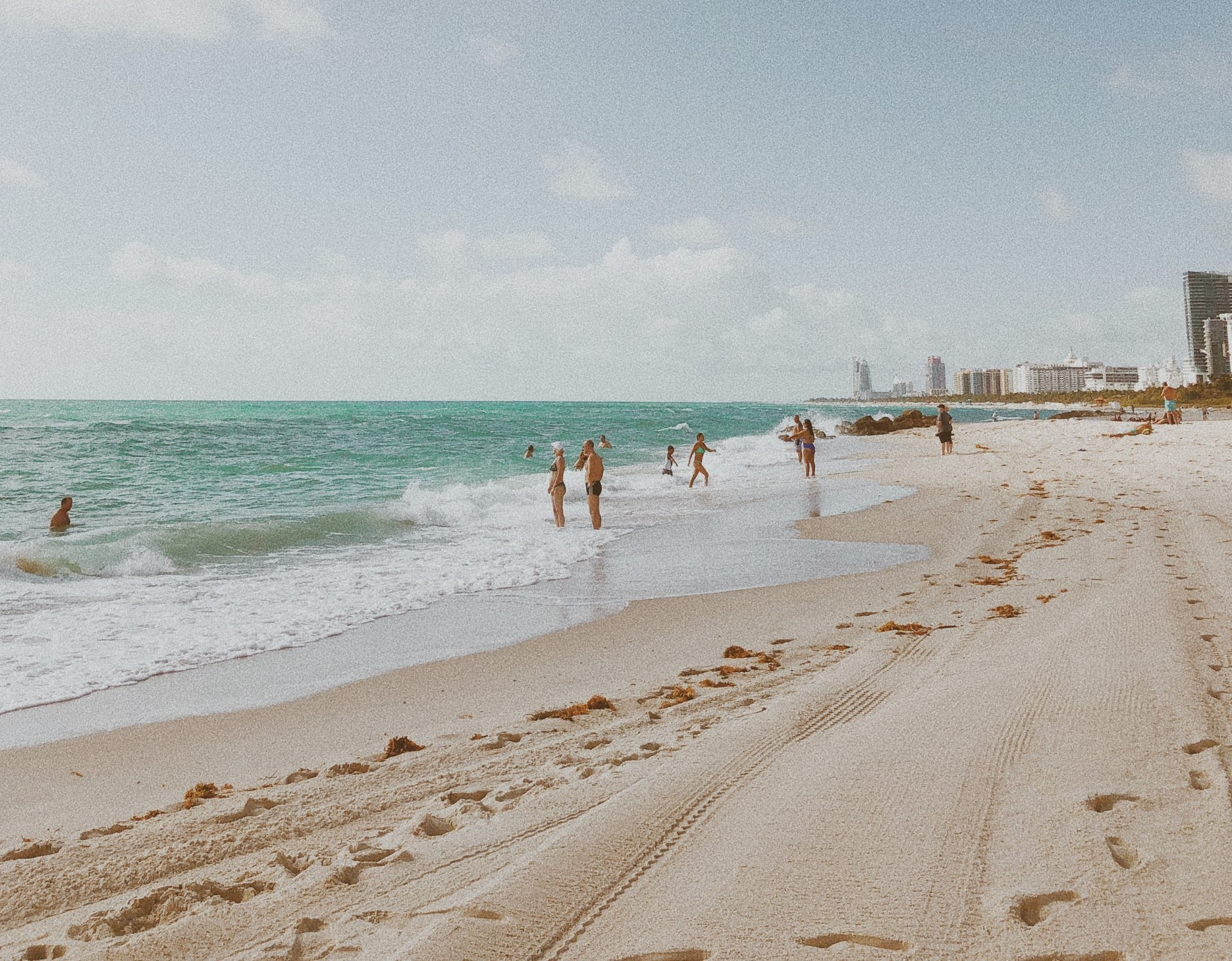 a clear day at south beach, florida