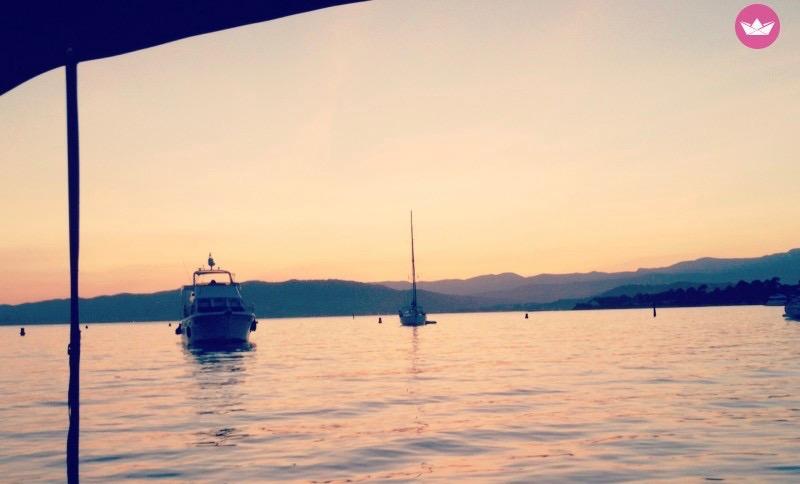 Saint-Valentin à bors d'un bateau à Cannes
