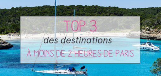 TOP 3 destinations à 2h de Paris