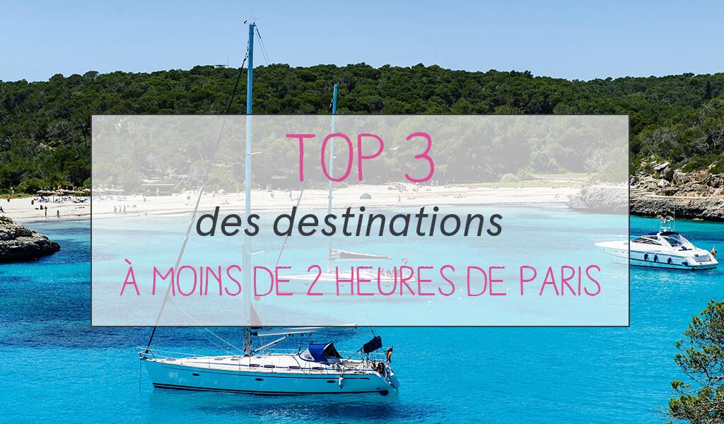 TOP 3 destinations bateaux