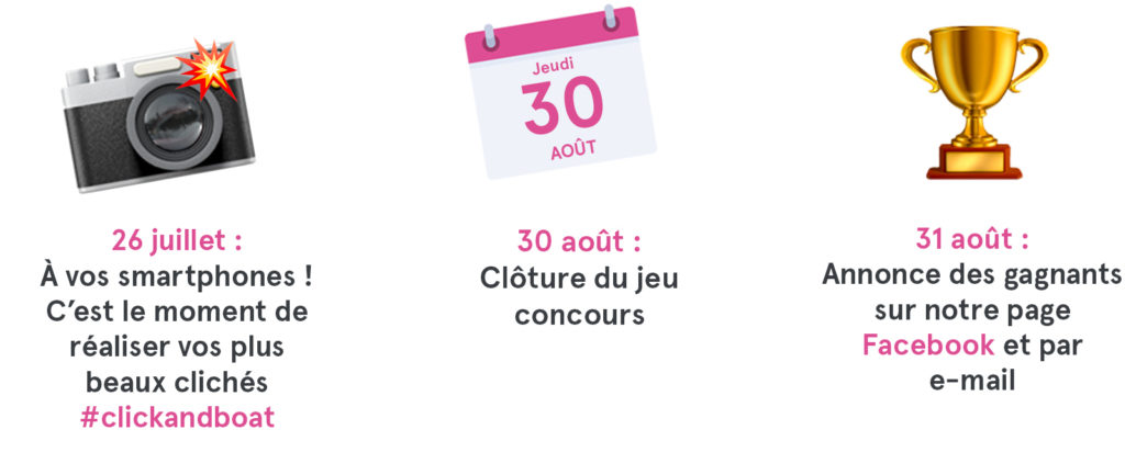 jeu concours click and boat
