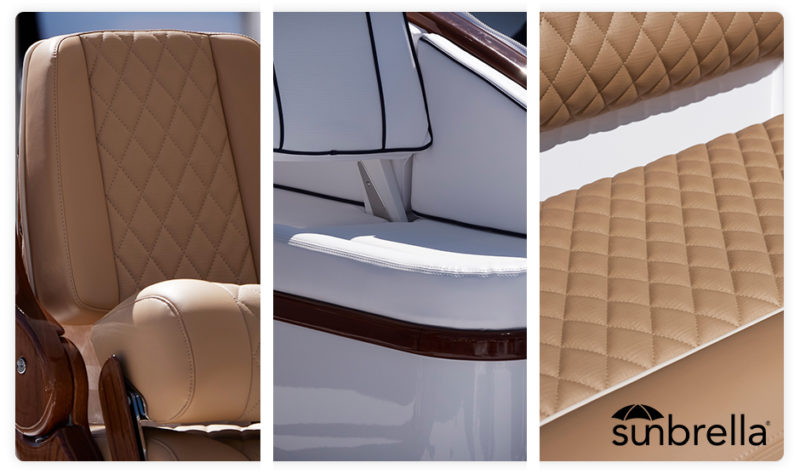 refit bateau à moteur sunbrella