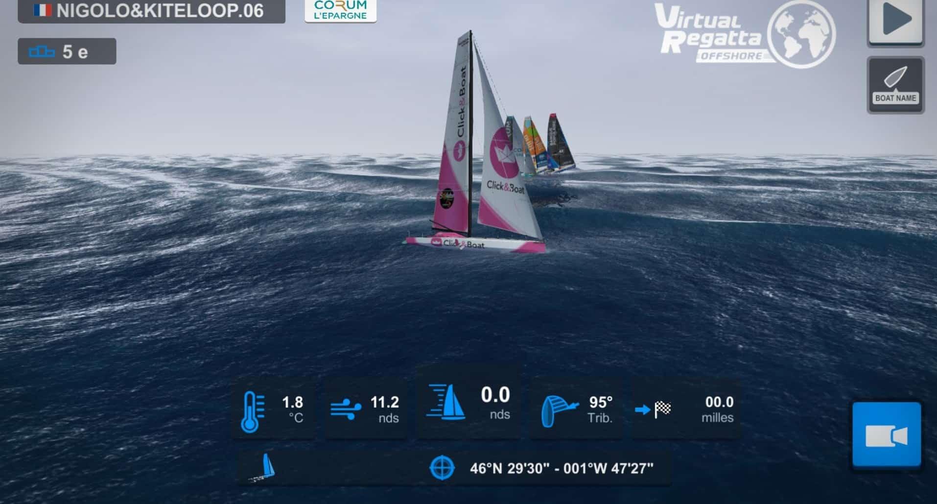 Gagnant du challenge Click&Boat au sein du Vendée Globe virtuel