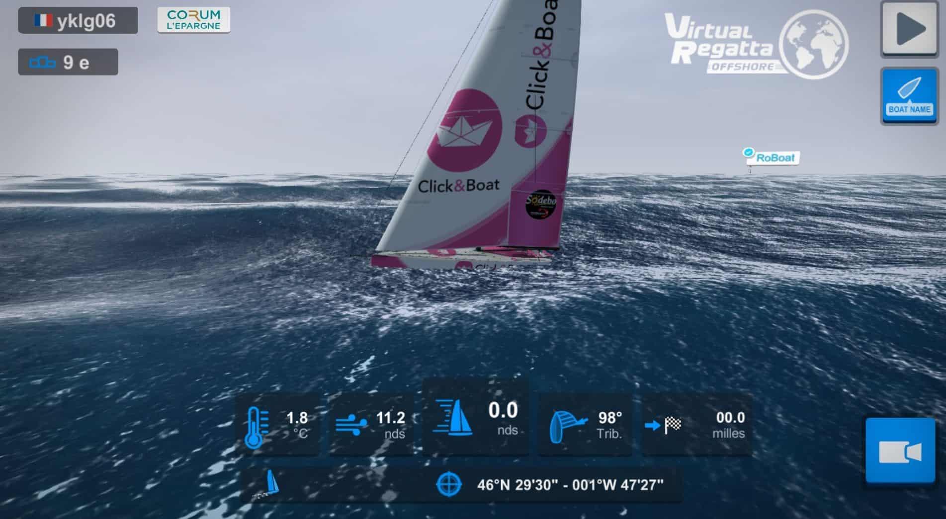Médaille d'argent du challenge Click&Boat au sein du Vendée Globe virtuel